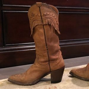 Dan Post Leather Cowgirl Boots